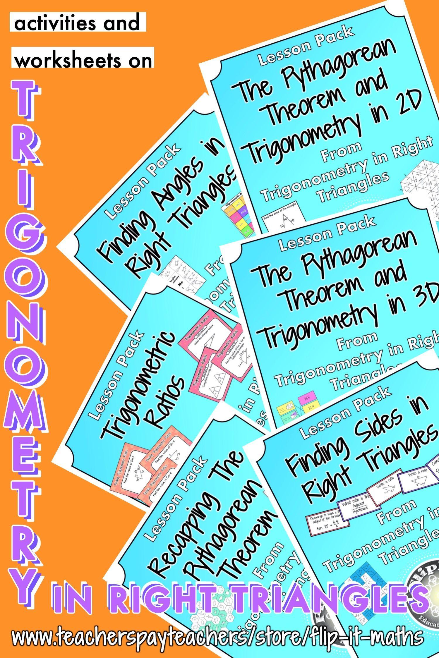 Trigonometry In Right Triangles Bundle In