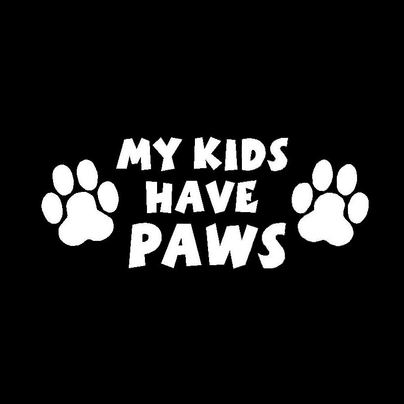 Find More Stickers Information About My Kids Have Paws Dog Cat Pet