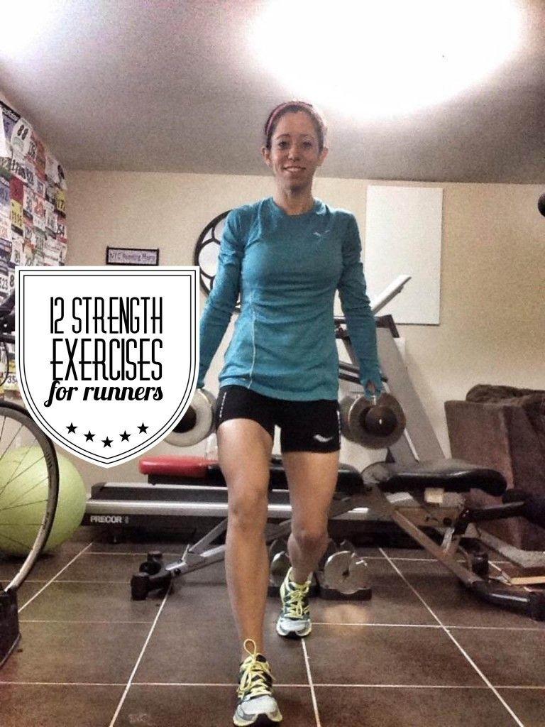 12 strength training exercises for runners via @nycrunningmama. #weighttraining
