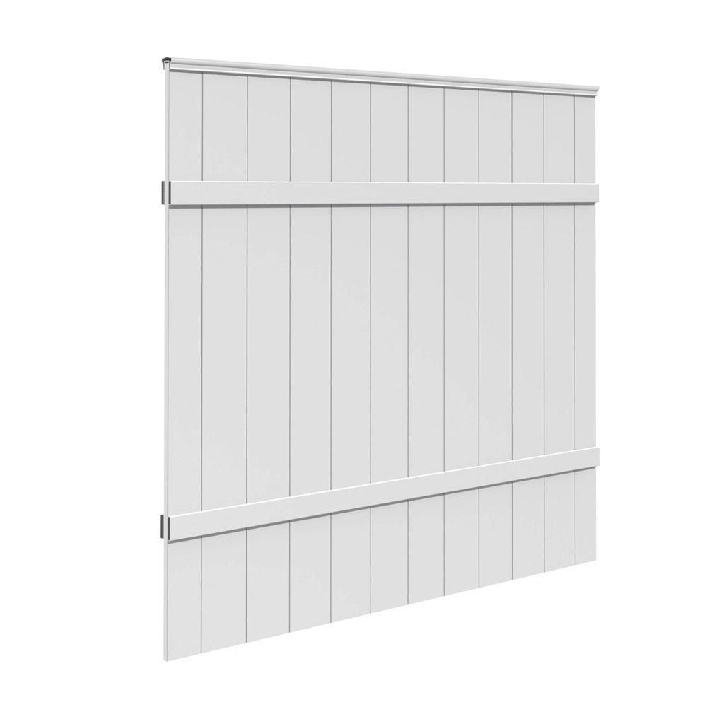 6 ft  H x 6 ft  W White Vinyl Windham Fence Panel | Products