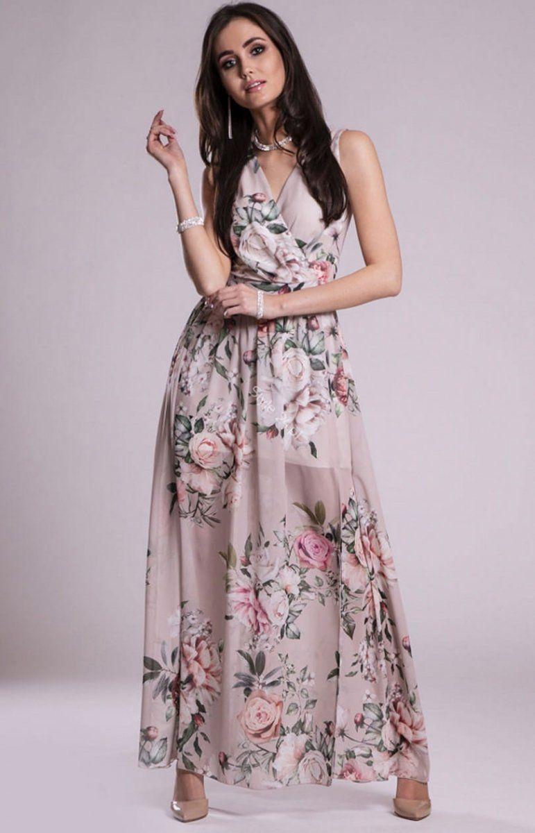 Szyfonowa Dluga Sukienka Letnia W Kwiaty D02 Maxi Dress Fashion Dresses