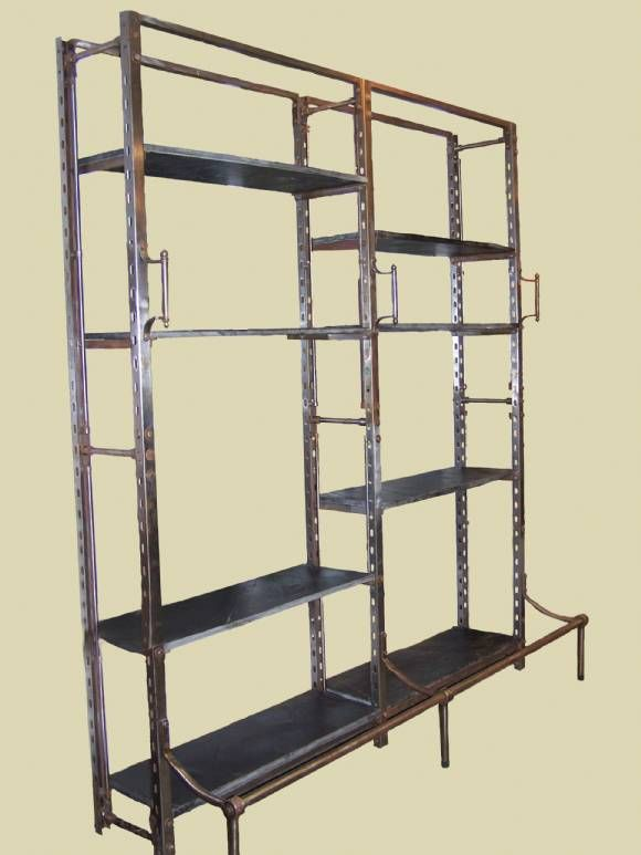 Leaf N Petal: Metal And Slate Bookshelf