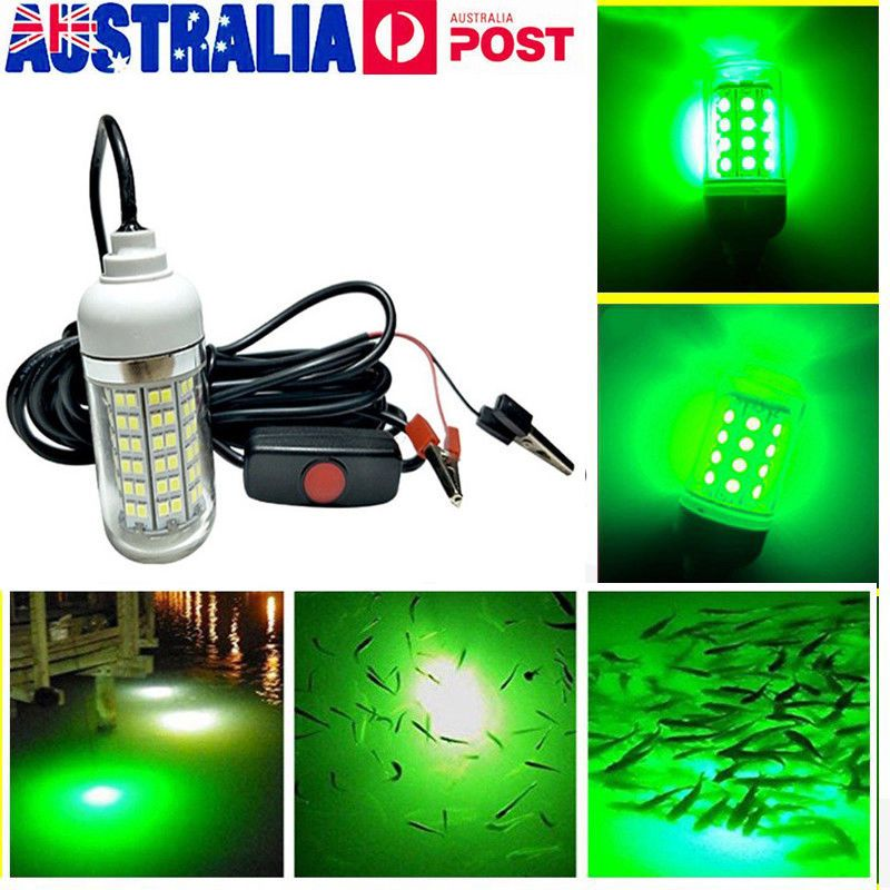 Underwater Fishing Lamp LED Waterproof Boat Light Green Light
