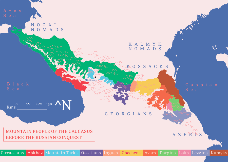 Maps on the Web Ethnic groups of the Caucasus before and after the