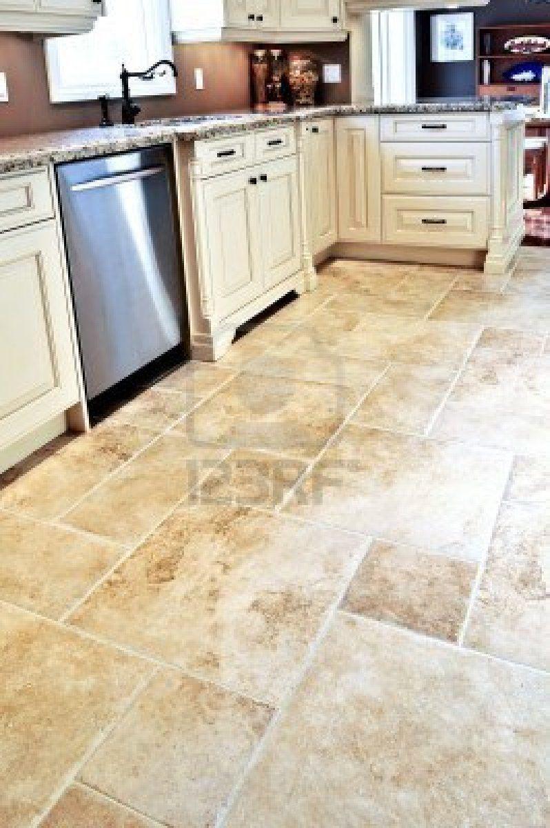 Ceramic tile floor in a modern luxury kitchen   Kitchen flooring ...