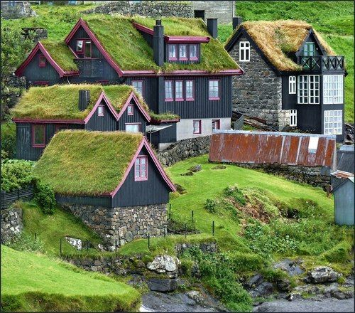 Grass Roof Village, The Faroe Islands Photo Via Silvia