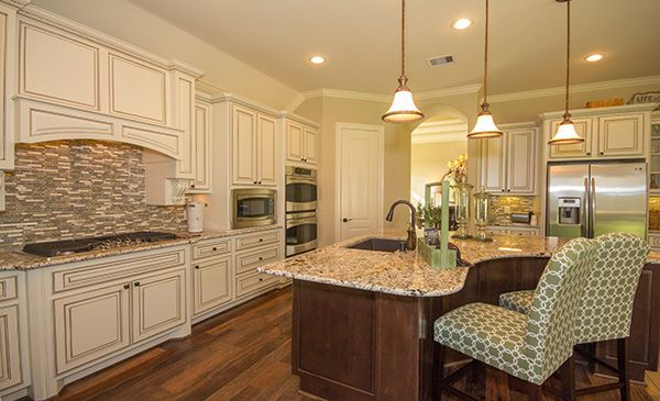 With Luxurious Cabinets And A Dramatic Backsplash This Kitchen