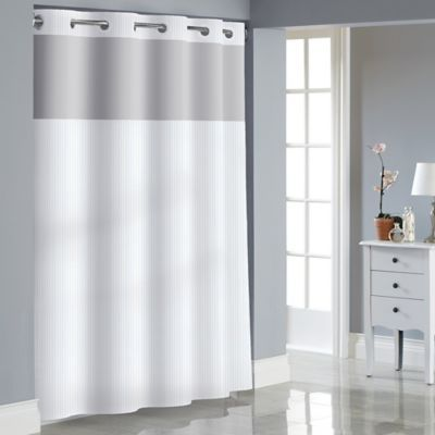 Hookless Stripe Jacquard Shower Curtain Bed Bath Beyond
