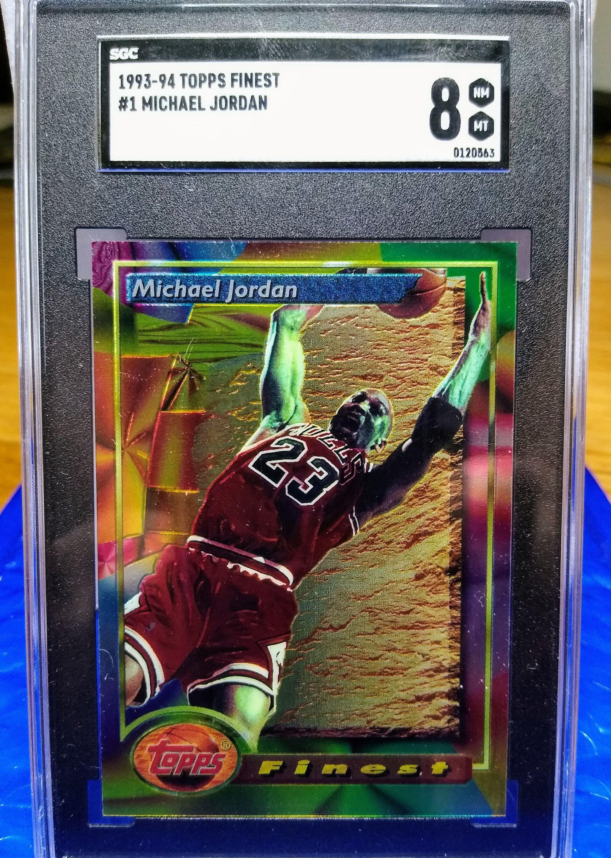 1993 topps finest first year chicago bulls michael jordan