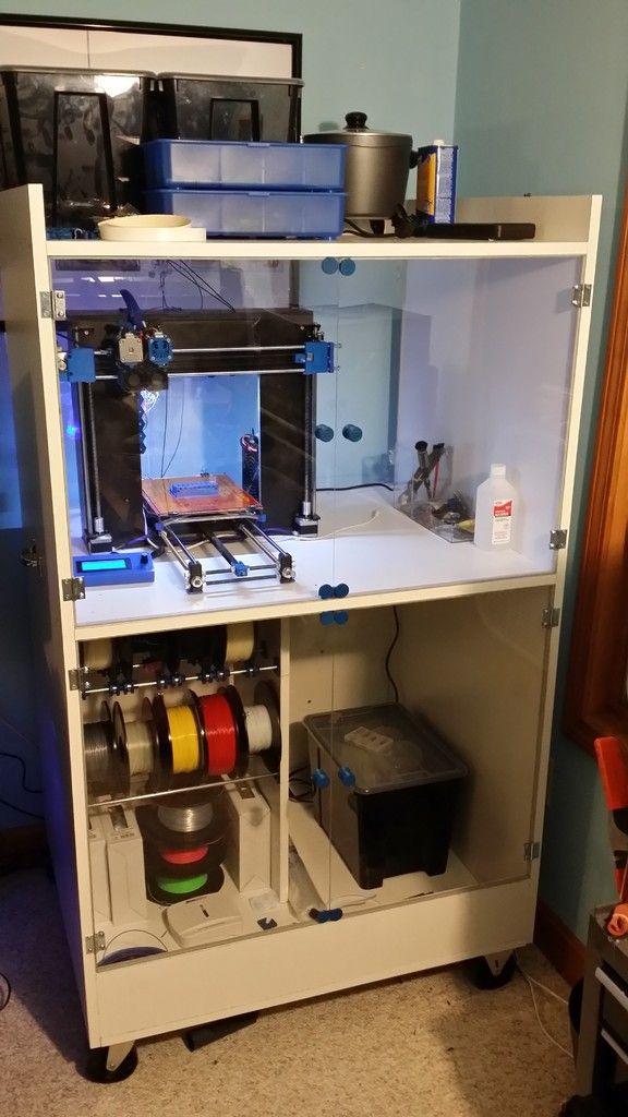 Cabinet For Printer Dry Storage For Filament With Easy Change System And Tooling 3d Printing 3d Drucker Selber Bauen 3d Drucker Projekte 3d Drucker Vorlagen