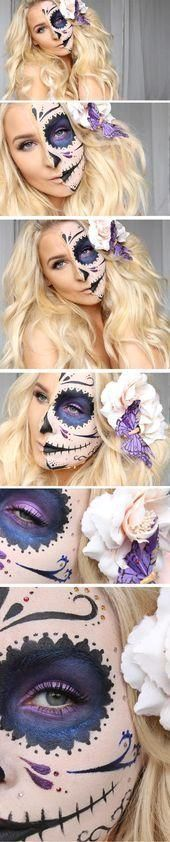 #Make-up paso a pas...   #anleitung  #coole  #halloween  #make-updenoche  #schritt  #super #Coole #Schritt  25 Super Coole Schritt für Schritt Anleitung für Halloween