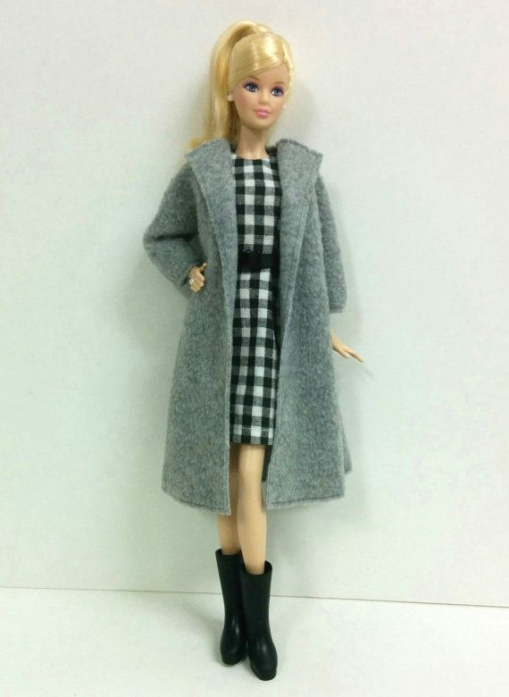 Gray Coat for Silkstone/Model Muse/ by SKSungDesigns on Etsy