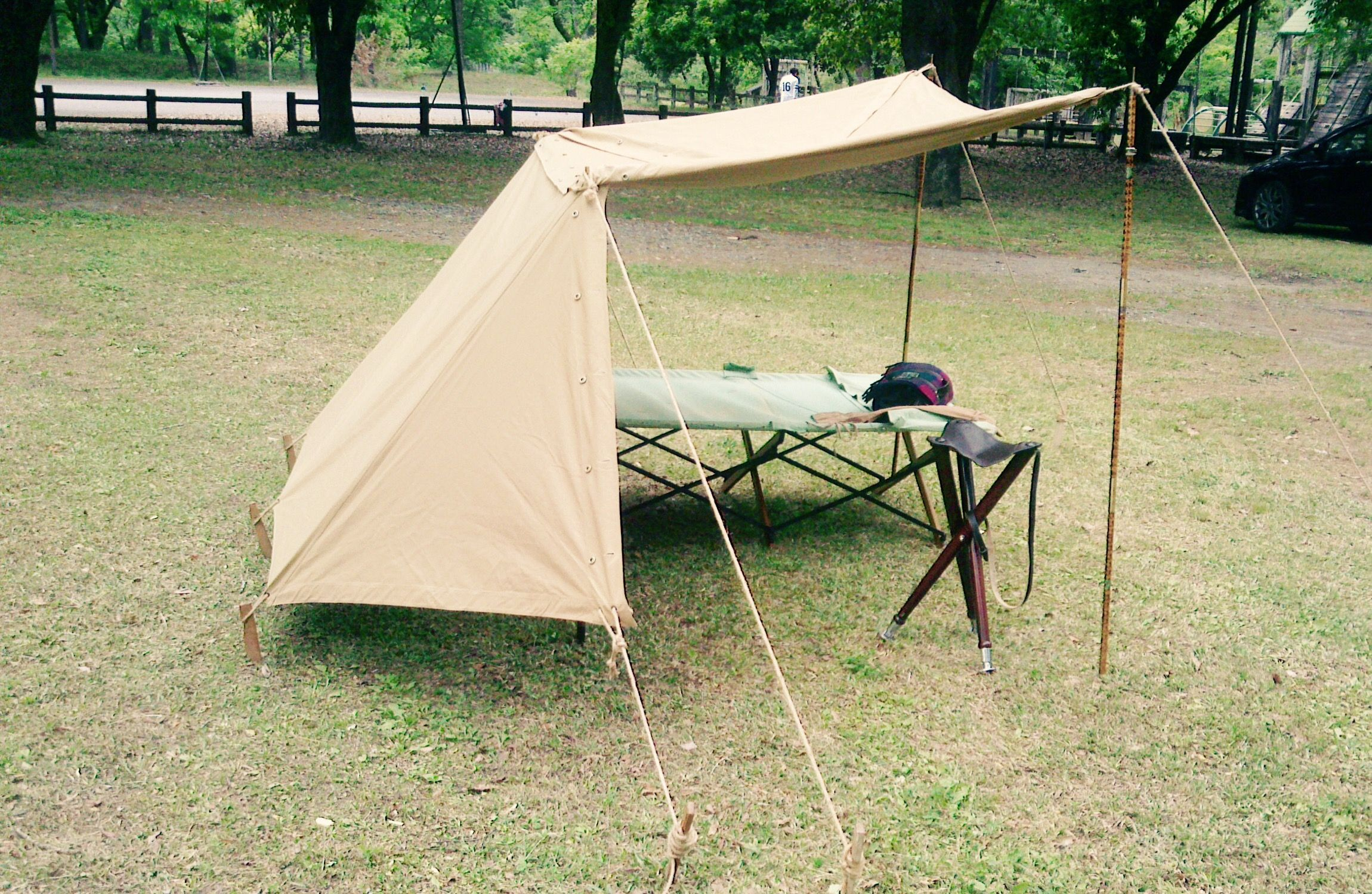 Pup Tent Pole Set Military Issue Genuine Made USA for Shelter Half  6 pieces