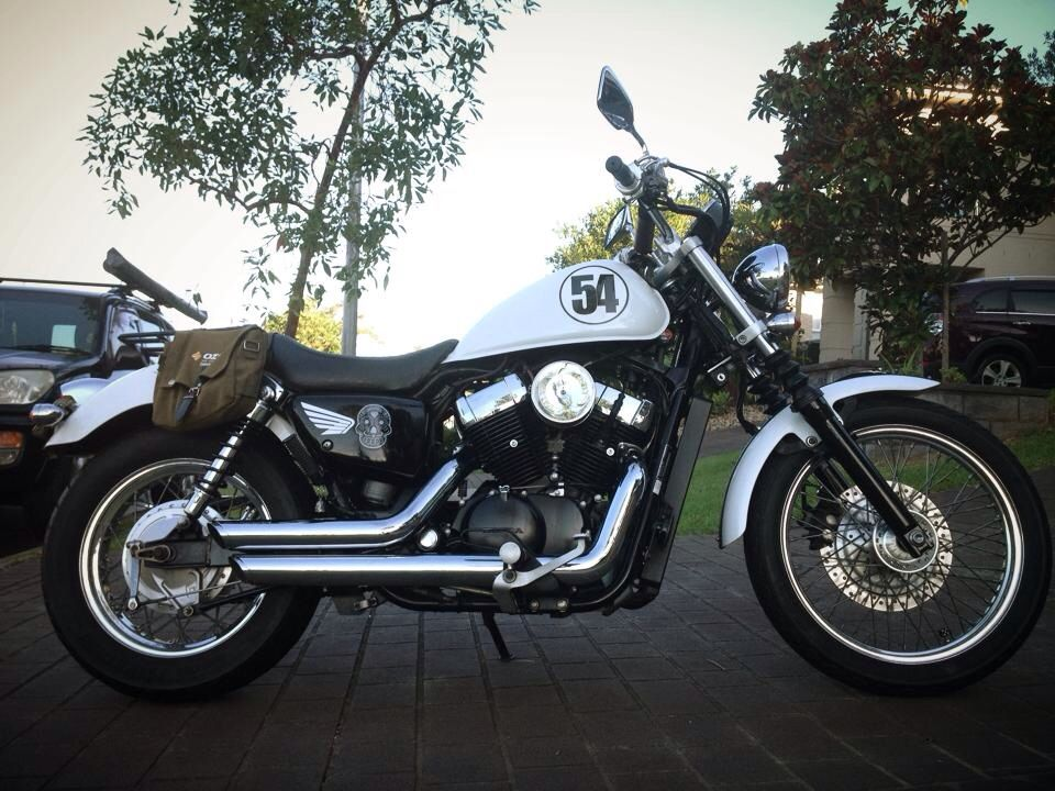 an updated side profile of my honda vt750s molabikes and accessories pinterest honda. Black Bedroom Furniture Sets. Home Design Ideas