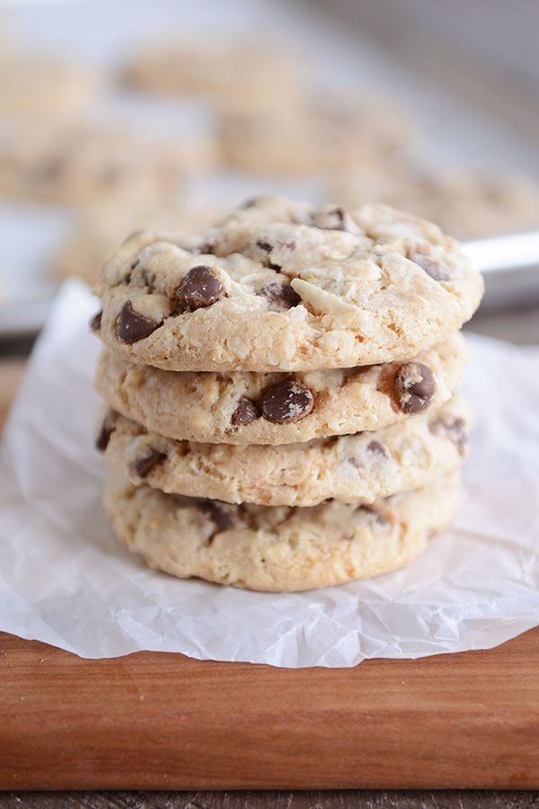 These amazing, egg-free chocolate chip treasure cookies are so easy to make and are the softest, chewiest cookies thanks to a few, special secret ingredients!  You might be hard pressed to find a choc