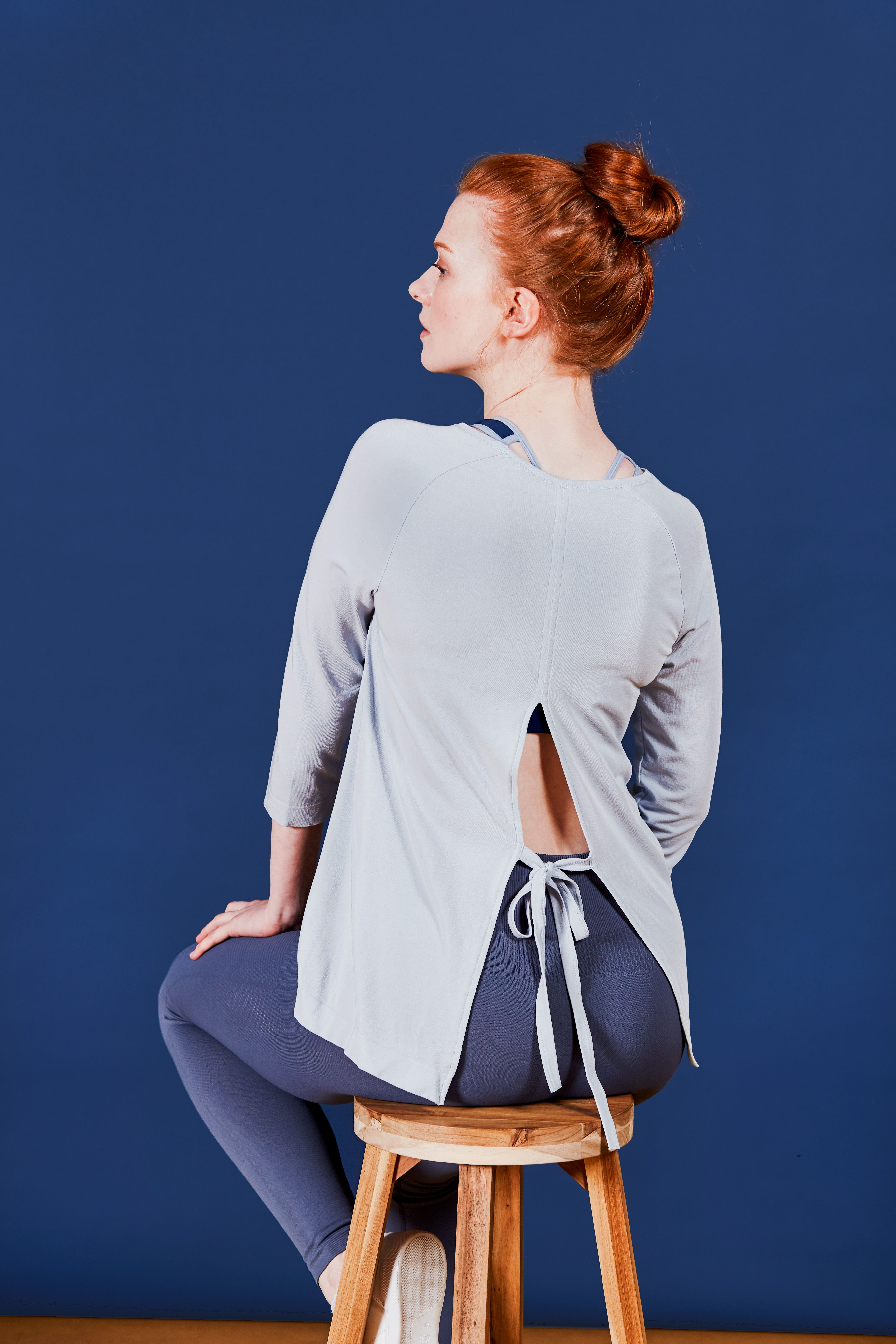 02eaf1029a35e A winter blue we are loving. Our Wanderlust Tie Bamboo Top is perfect for  the