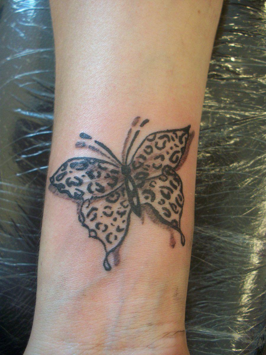 leopard print butterfly by tammieink.deviantart.com on @DeviantArt