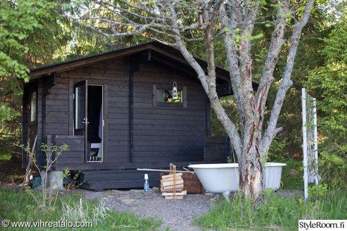 sauna,puutarha,piha,kylpyamme