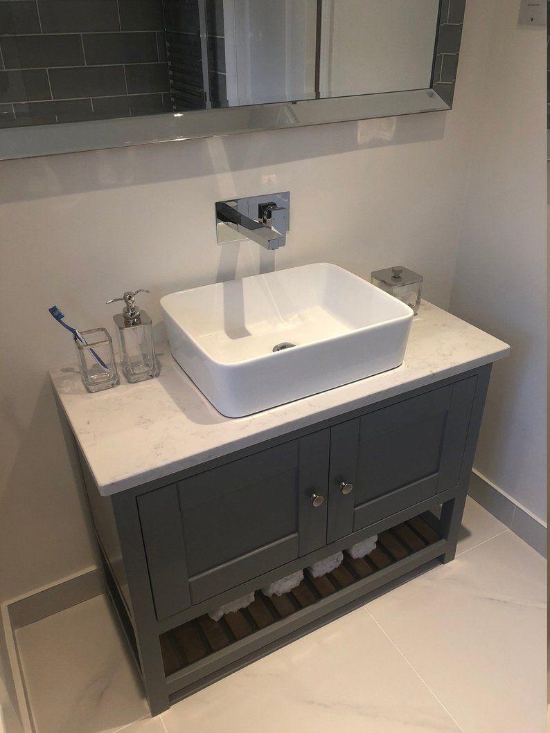 Bespoke Bathroom Vanity Unit With A Quartz Worktop Made To Etsy 30 Inch Bathroom Vanity Bathroom Sink Vanity Sink Vanity Unit