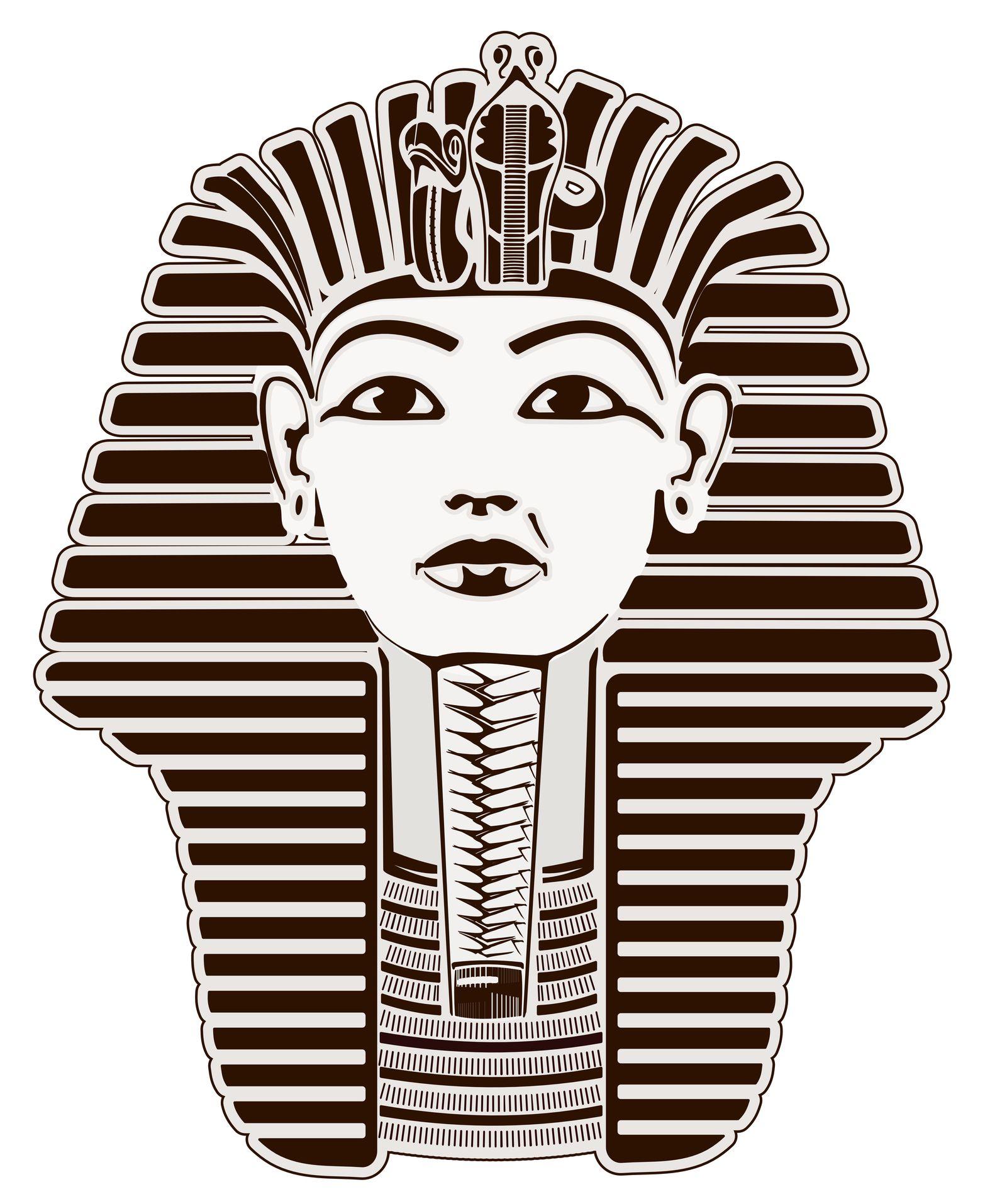 Black & White King Tut | Possibilities | Pinterest | Dibujo