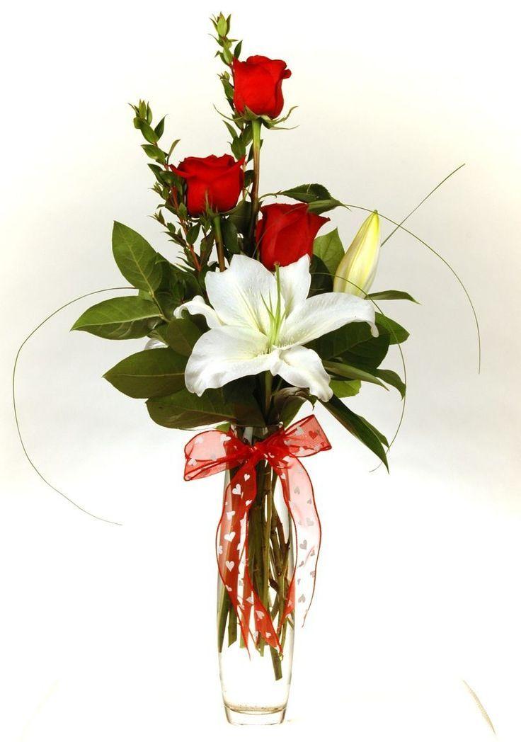 valentine floral arrangement ideas - Google Search   Creative Flower ...
