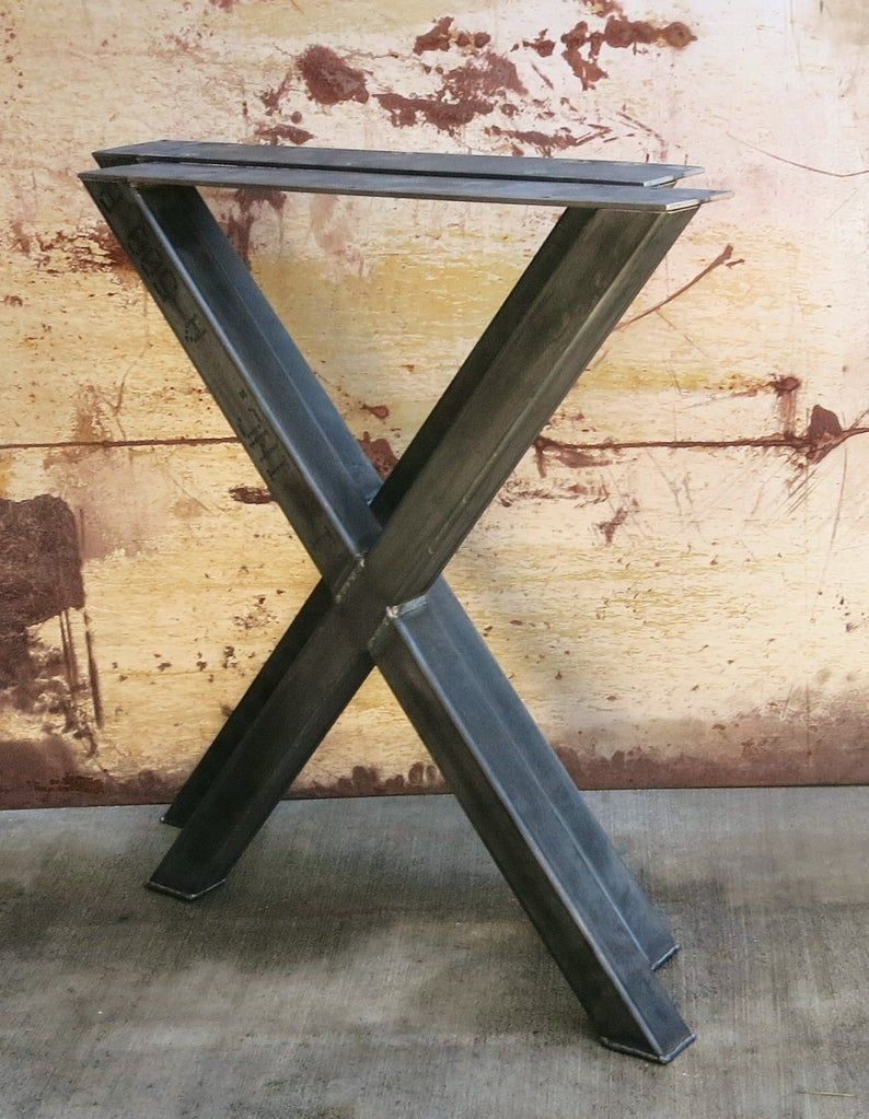 X Shape Thick Industrial Metal Table legs 2x2 Industrial