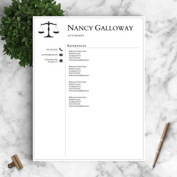 Legal Resume Template for Word \ Pages Lawyer Resume Attorney - attorney resume