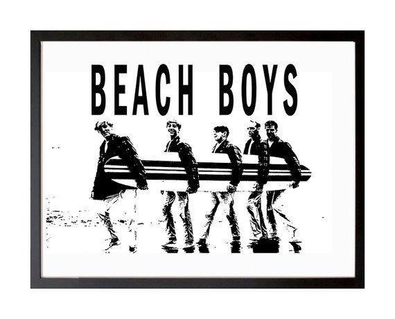 Beach Boys Poster Surfer Girl Print Rock California By Stop4design