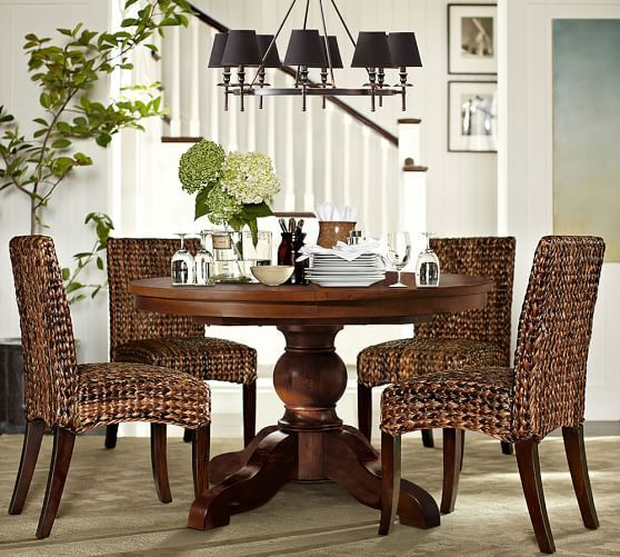 Collins Chandelier Aged Brass Dining Room Small Seagrass Chairs Round Kitchen Table