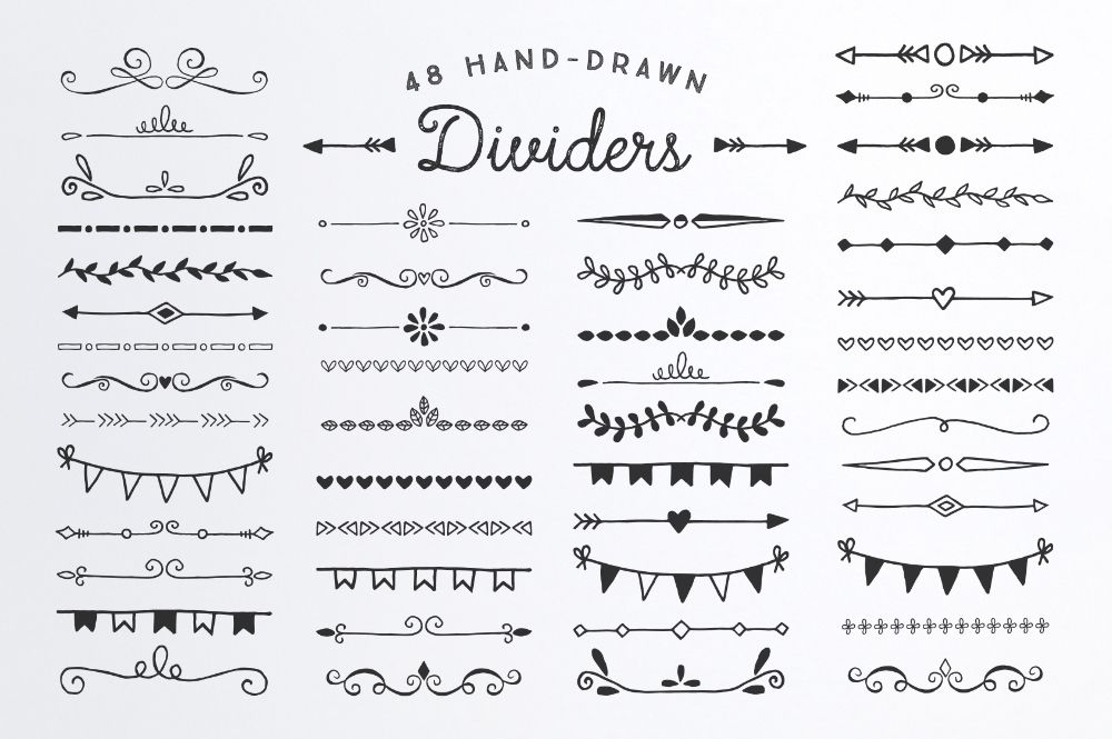 Page Dividers Bullet Journal