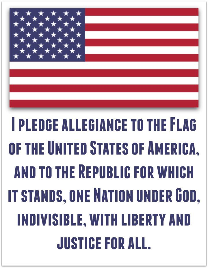 photograph about Usa Flag Printable known as Pledge of Allegiance - American Flag Printable Childrens