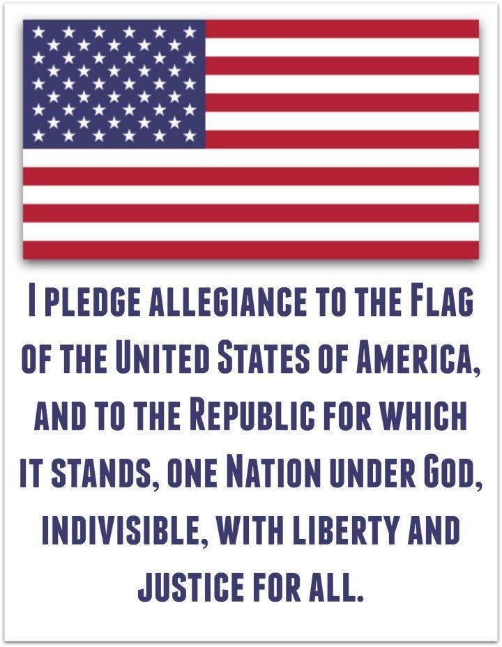 Pledge of Allegiance American Flag Printable – American Flag Worksheet