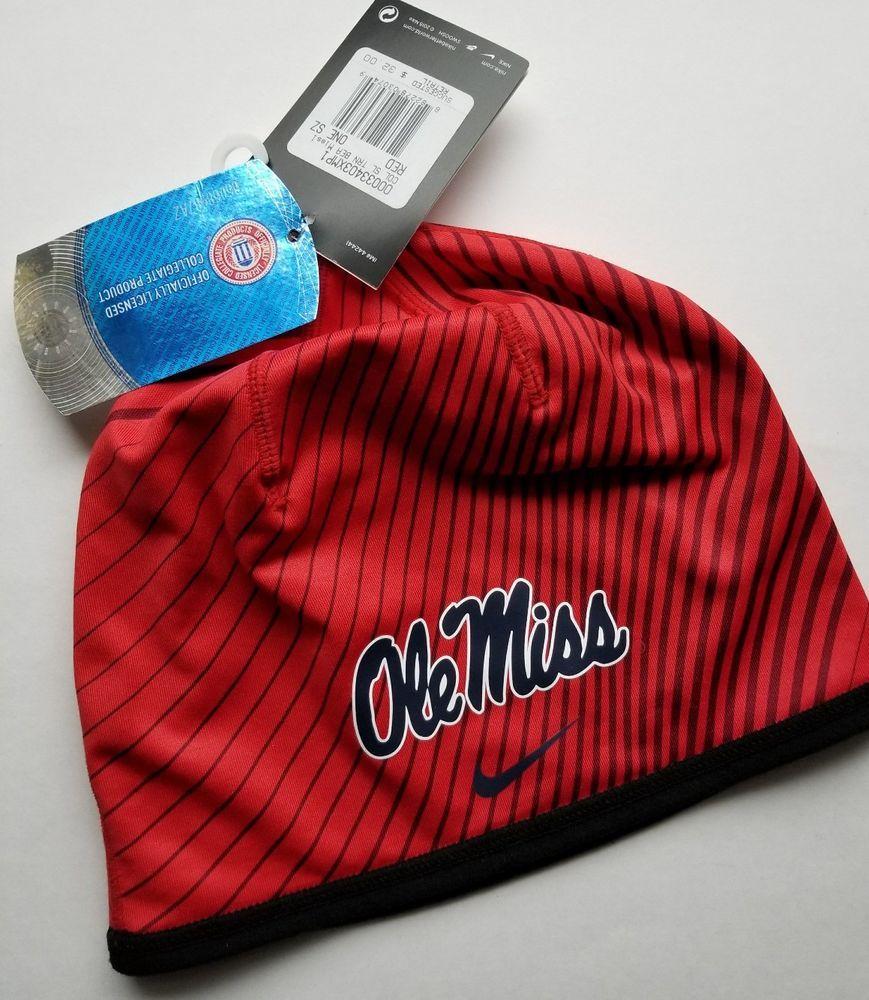 e6a3066c Nike Ole Miss Rebels Sideline Training Beanie Cap One Size Red Dri Fit #Nike  #OleMissRebels