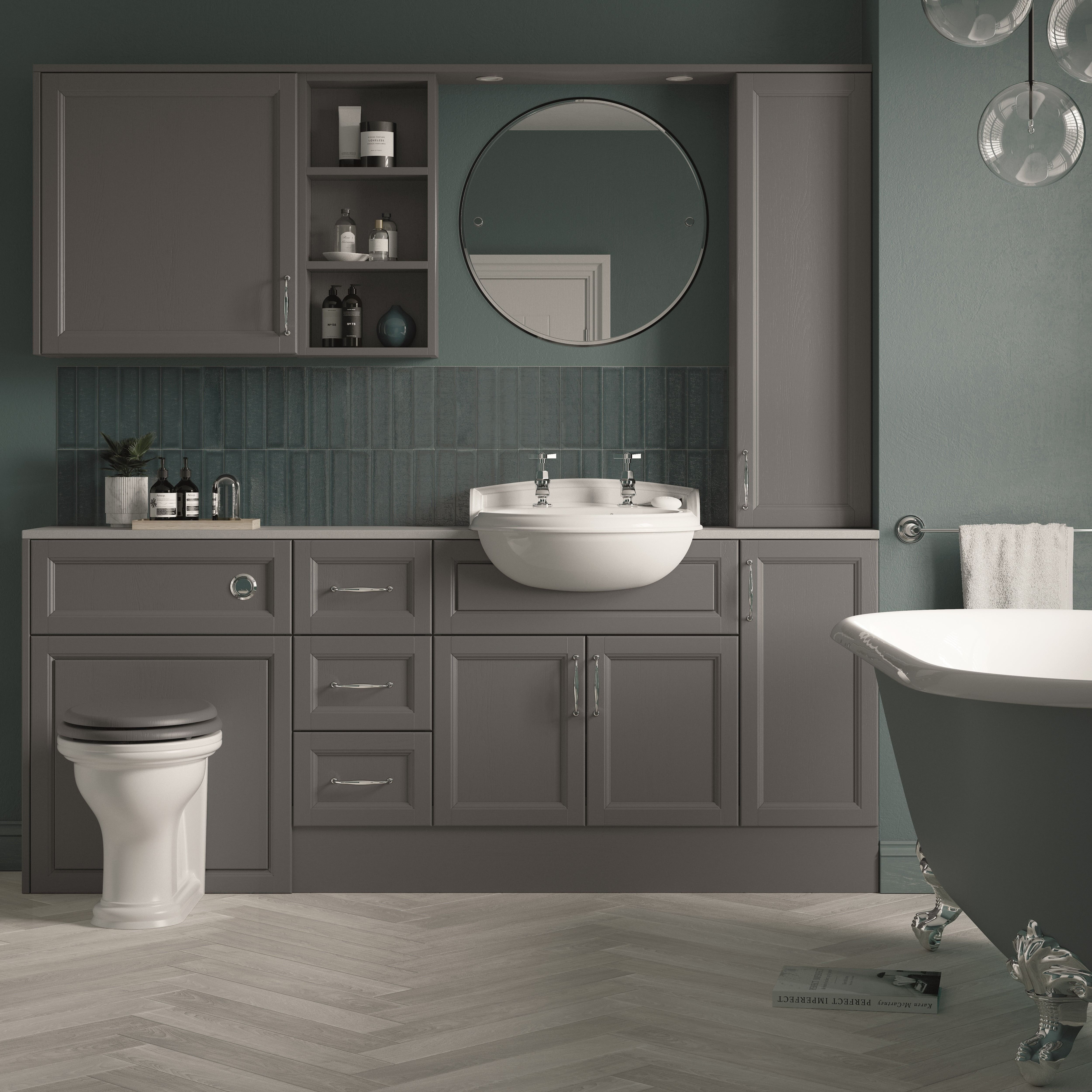 The New Fitted Furniture Range From Heritage Bathrooms Has Been Designed To Both Flaunt And Conceal Fitted Bathroom Fitted Bathroom Furniture Fitted Furniture