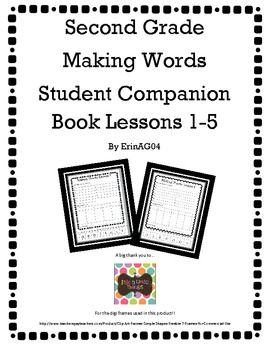 Second Grade Making Words Student Companion Book Lessons 1