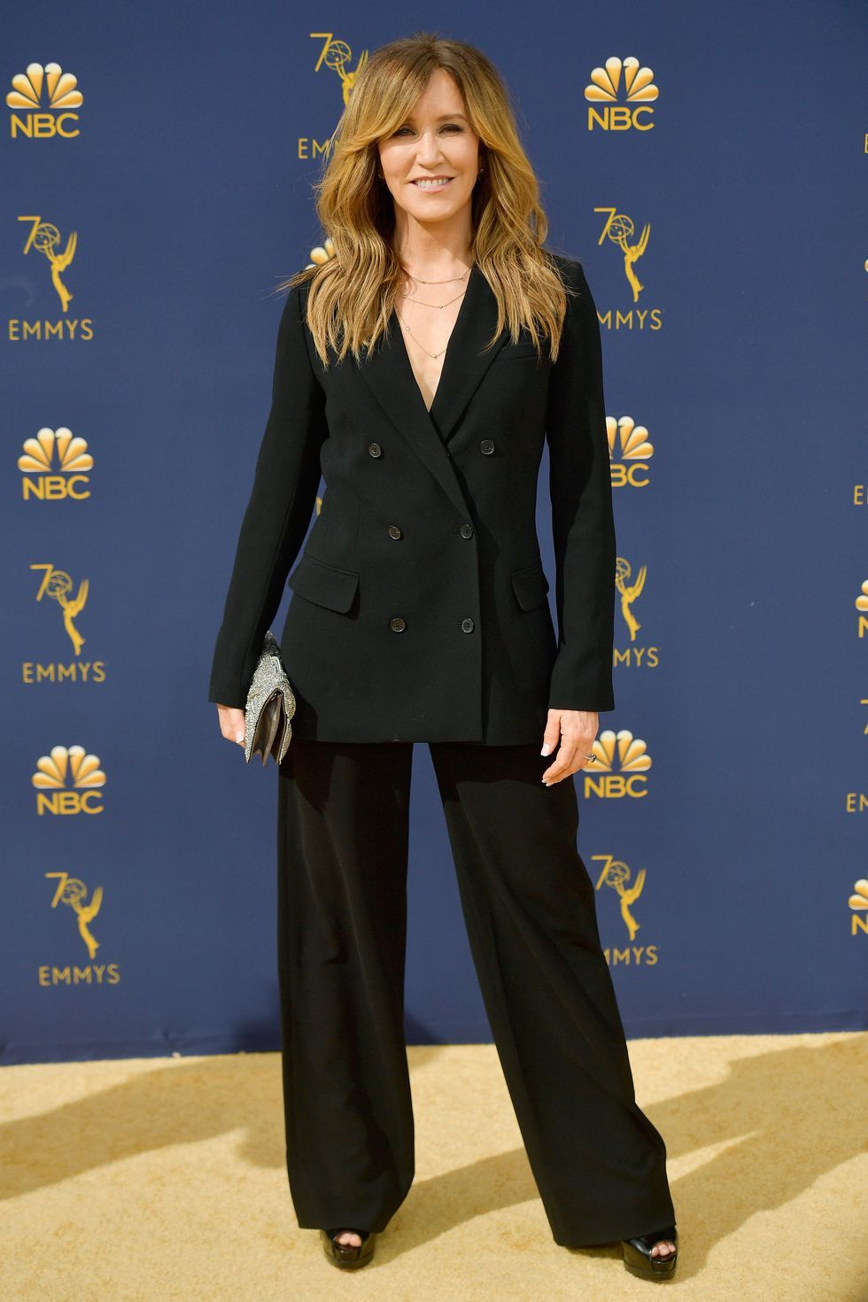 Felicity Huffman in the Samuel Blazer and Sadiki Pant by