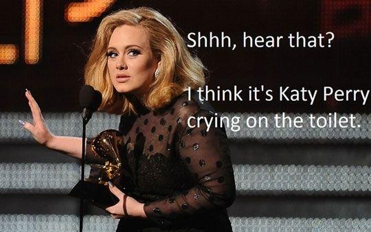 haha:) i love you Adele