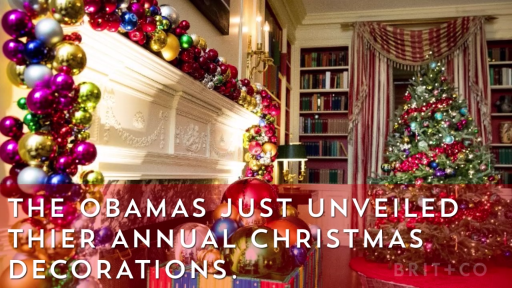 the obamas white house christmas decorations are glam af