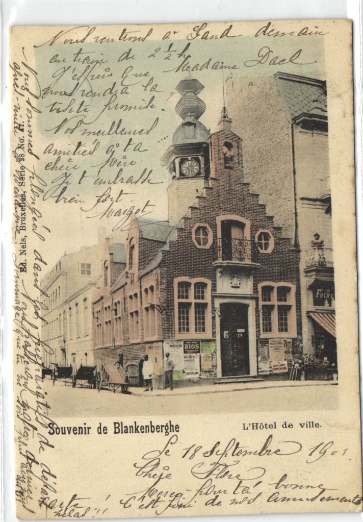 urbitrend-collectables - 1 postcard Belgium Blankenberghe oud stadhuis in 1901 Nels Série 28 N° 72  1901, €15.00