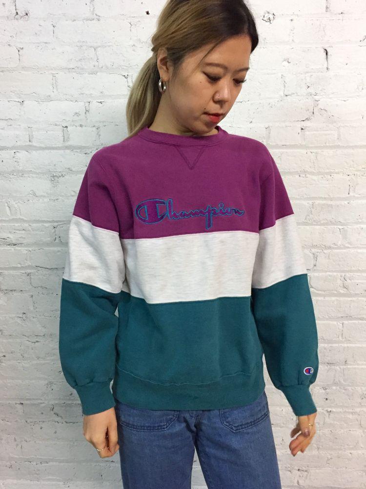 vintage 90s colorblock Champion Reverse Weave sweatshirt  7a789635c8