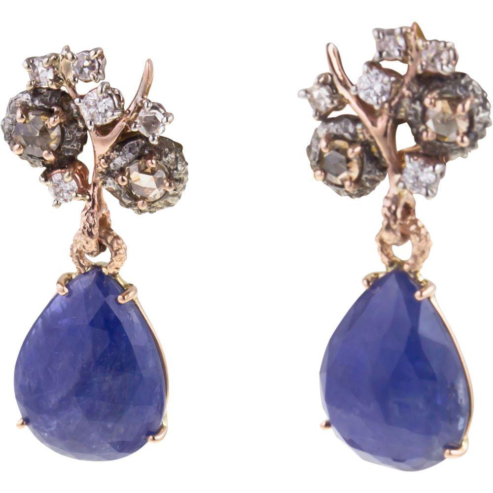 FEDERICA RETTORE  Sapphire & Diamond Drop Earrings