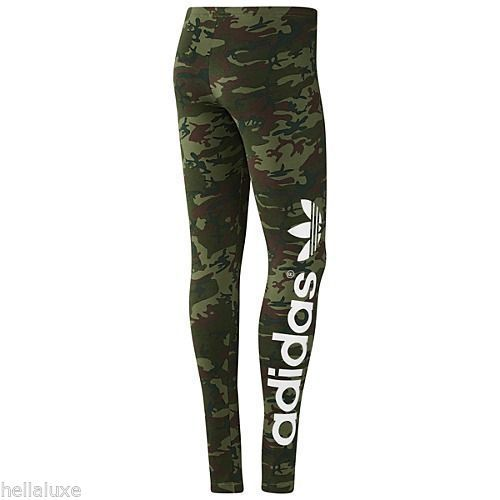 fcbdfd15bcaf9 CAMOUFLAGE look is allways great!!!! Adidas B Ball Trefoil Leggings Camo  Tights Yoga Running Pant Workout Womens Sz M | eBay