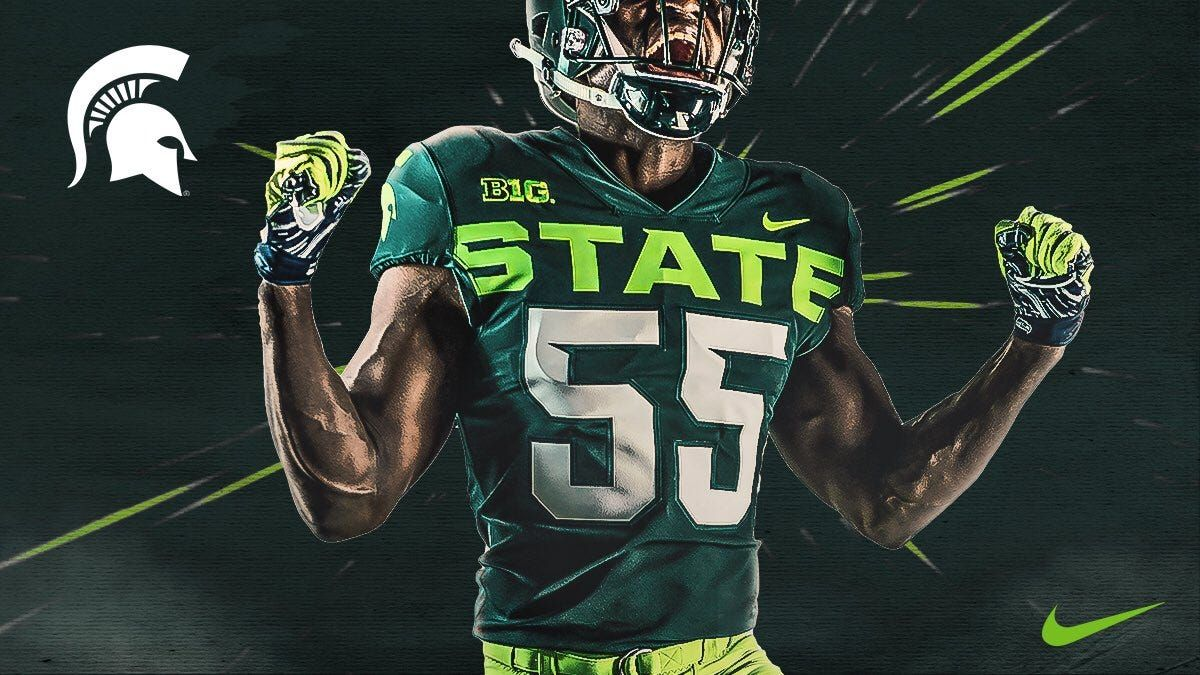 Green With Disdain Michigan State Fans Critical Of New Msu Football Uniforms Michigan State Football Msu Football Michigan State