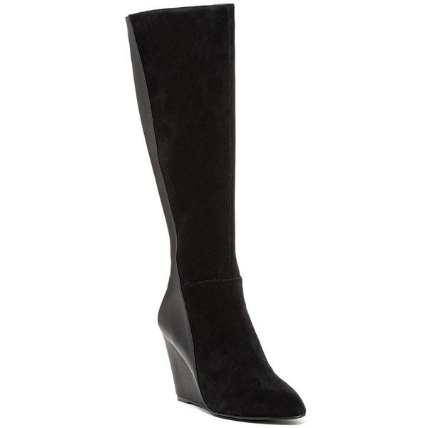 9c7d919a54 Charles By Charles David Easton Tall Wedge Boot ( 80) ❤ liked on Polyvore  featuring