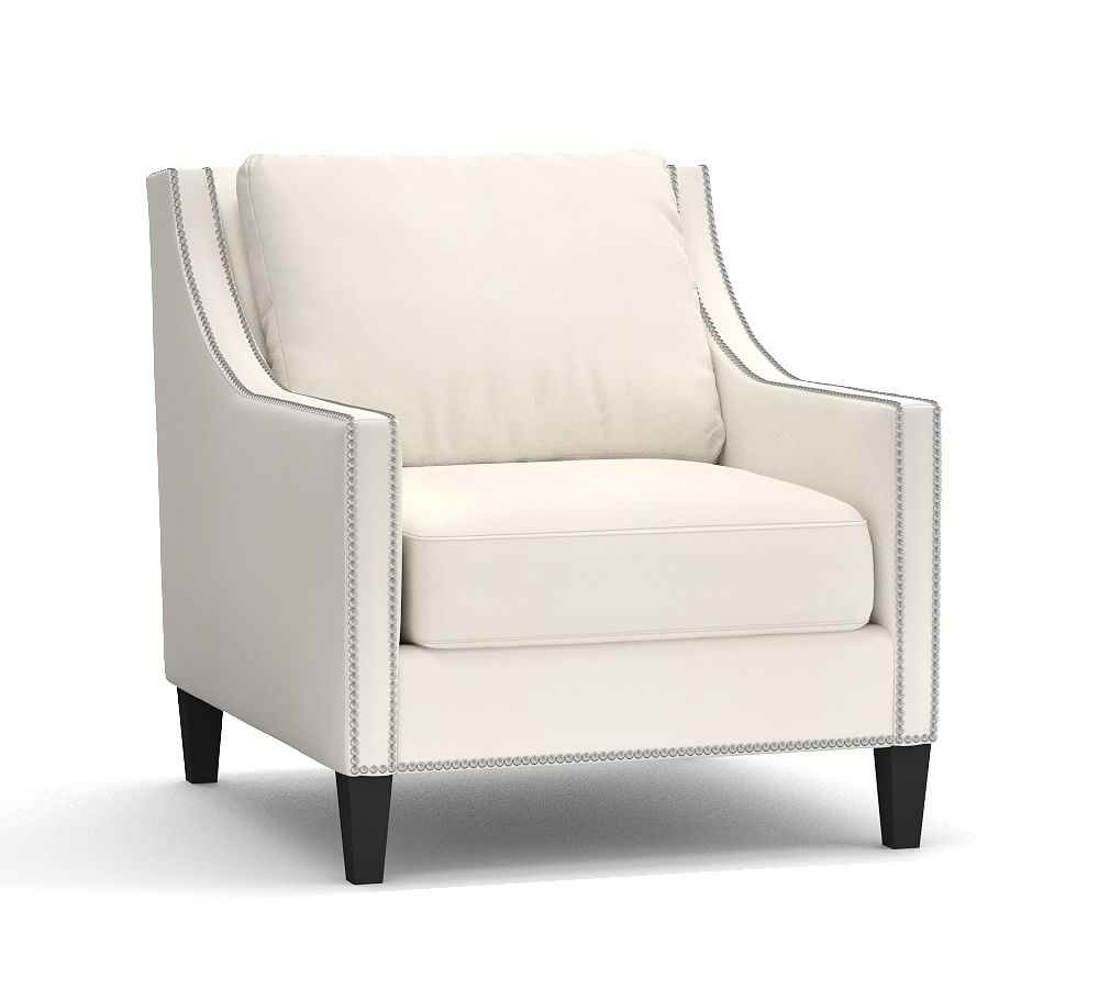 Pasadena Upholstered Armchair Polyester Wrapped Cushions
