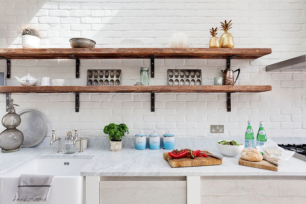 20 Rustic Kitchen Shelving Ideas With Timeless Rugged Charm White Kitchen Rustic Kitchen Shelf Design Country Kitchen Shelves