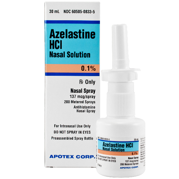 Azelastine Hcl 0 1 Nasal Spray 137 Mcg Brand Name Astelin Apotex