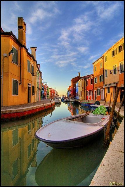Burano, Venice, Italy, province of Venezia Veneto