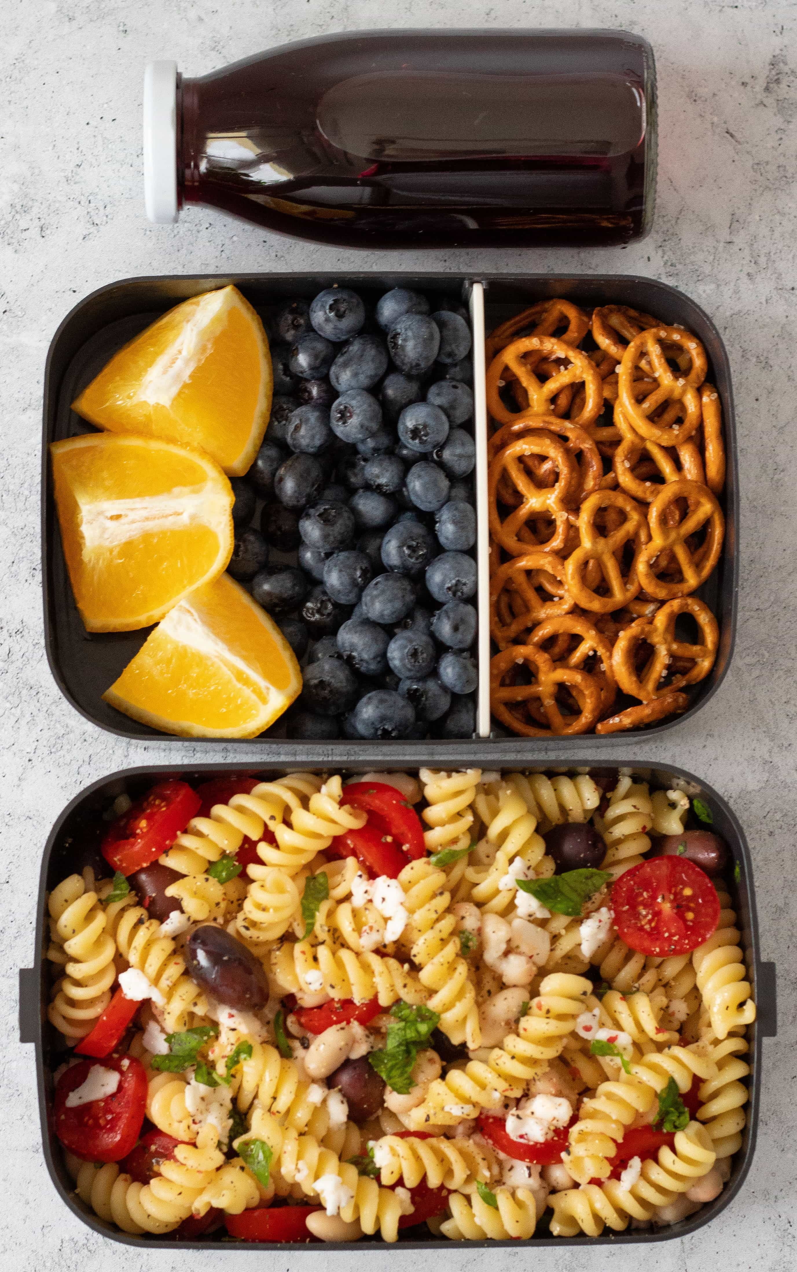 5 No-Heat Vegan School Lunch Ideas For College #bentoboxlunch