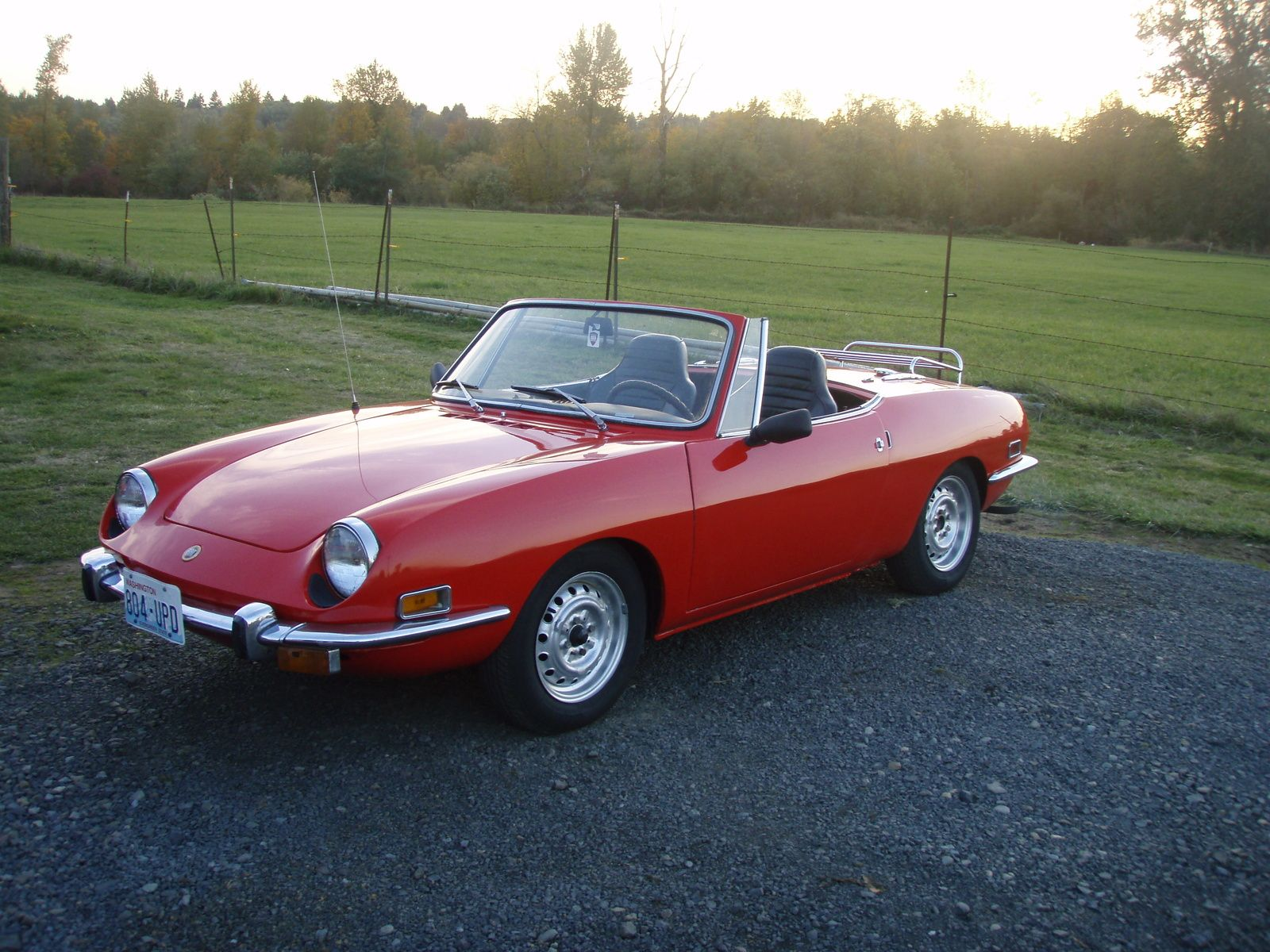 My First Car Fiat 850 Not As Perfect But Close Martian Red
